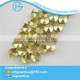 Wholesale fancy nickle metal cone nailhead hotfix motif design
