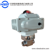 DN15 motorized stainless steel high pressure ball valve with limit switch box