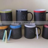 11oz Ceramic chalk mug,message mug