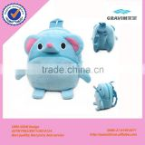 Cute Cartoon Animal Wholesale Custom Plush children school bag,Plush Toys Bag, Plush Bag