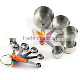 10 Pieces Stainless Steel Measuring Cups and Spoons Stackable Set                                                                         Quality Choice
