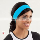 (Factory/low MOQ) custom yoga girl cotton headband