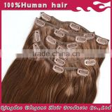 Full ahead soft &full ending natural color straight 220g clip in thick hair extensions