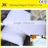 100 Polyester micro peach skined white fabric for bed pillowcase/Polyester bleached home textile fabric