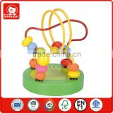 toys for kids green crocodile design learning toys small wood material hand beaded coasters model roller coaster toy