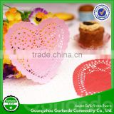 High Quality Romantic Food Grade FDA Colored Paper Sweet Heart Lace Doily