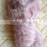 Doped dyed 100%polyester feather yarn for gloves