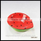 wholesale daily use red porcelain soup bowl