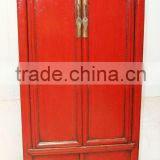 Antique Chinese Red Large Wedding Cabinet