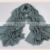 women plain style fashion fringes colors polyester rayon scarf and shawl, cotton and linen pashmina shawl turkey hijab scarf                                                                                                         Supplier's Choice