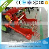 hand operated walking tractor driven potato harvester