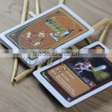 Double printed front and back custom paper game card printing