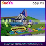 Adult/ kids Giant Inflatable Water Park With Slide Pool giant water hippo slide longest obstacle Frame Pool/ Above Ground