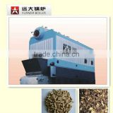 Double Drum 1.4-7.0 MW hot water boiler wood pellet fired