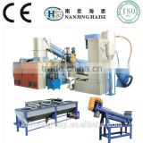 manufacture waste used scrap plastic pet bottle flakes crushing washing drying recycling machinery line