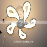 Fan designed modern acrylic LED ceiling mounted light fixtures MX2539S/5
