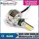 Promotion Factory Price SpeedLight Accessories Motorcycle M3S LED HeadLight 32W 3000 Lumens