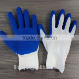 High quality 13gauge 57g blue latex coated white nylon garden work glove                                                                         Quality Choice