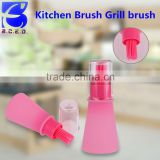 Oil Baster Basting Silicone Brush Glass Bottle Glaze Meat Kitchen Cooking Aid
