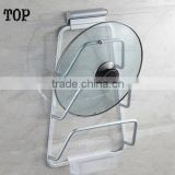 Space Aluminum Shelf Home Kitchen shelf pot cover holder Lid Spoon Rack Belt Water Tray Shelf Hardware Kitchen Accessories