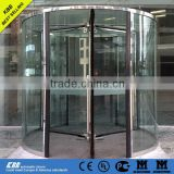 Hot sale all glass revolving door, security glass, stainless steel surface, CE UL certificate