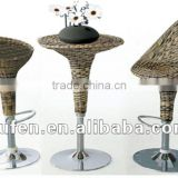 cast aluminum wicker bar furniture bar table chairs