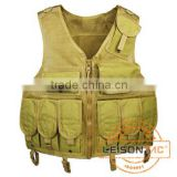 Mesh Tactical Vest with high strength 1000D waterproof nylon Tactical Vest with 4 ply nylon thread with UTX buckle