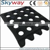 Hotel kitchen used anti-slip drainage anti slip fine ribbed rubber flooring mat/rubber safety flooring