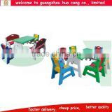 Plastic kids arm-chair with table for classroom daycare school