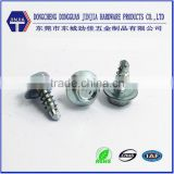 Direct supplier high quality blue zinc plated hex head washer screw