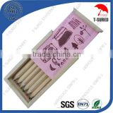 Gift Promotional Natural Wood Color Pencil set with Wooden Box