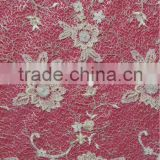Mesh Embroidery Fabric Metallic Stitches