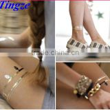 High Quality Temporary Tattoo Sticker gold for retail and promotion