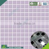 BSCI factory audit decorative vinyl 3d tile import removable pvc bathroom waterproof mosaic tile transfers stickers