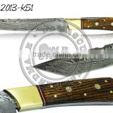Damascus Steel Tanto Knife Bocote Wood Handle