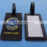 Internation lions club gifts 3D pvc luggage tag baggage name label