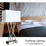 UL Approved Modern Hotel Table Lamp & Bedside Lamp With Power Outlets And Base Switch
