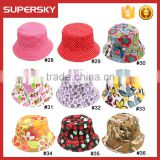 A-1419 UV Protection Cute Prints Bucket Cap for Kids Printing Children Bucket Sun Hat with Brim Toddler Kids Bucket Beach Hat