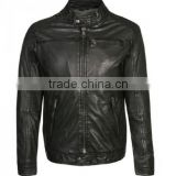 Men Leather Jackets , Sialkot Leather Jackets Exporter , Sheep Leather Jacket With Faux Fur , Sheep wool leather jacket