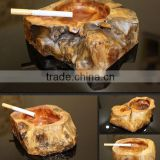 Creative Features wood ashtray hot selling fir root ashtray