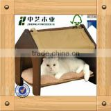 eco-friendly FSC&SA8000 handmade indoor wooden pethome /pet house cat house                                                                         Quality Choice