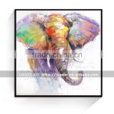 Elephant animal oil painting for living room /Elephant canvas print paintings