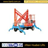 Factory supplier 10-14m aerial towable boom lift truck mounted articulated man lift for sale