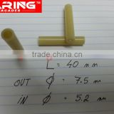 plastic sleeve,abs tube for flange pin with ring in the marble wall fixings
