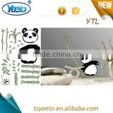 Panda Color Printing Removable Adhesive Cartoon Deco Wall Stickers Wholesale
