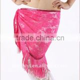 Lace Belly Dance Hip Scarf in 9 Colors