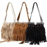 2015 Hot Selling Women Bag Suede Fringe Tassel Shoulder Bag Women Handbags Messenger Bag Free Shipping