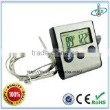 Waterproof BBQ Oven Magnet Digital Meat Thermometer And Timer