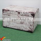 Antique Leather Storage Trunk Decorative Wooden Boxes