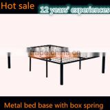 Metal Bed base and box spring Queen/Twin size with 8 legs Spring Bed Frame And Box Spring